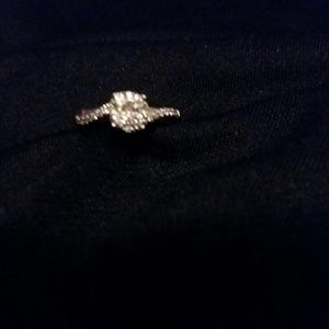 Jewelry - 10 k white gold engagement ring